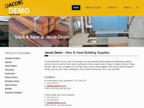 Building materials web design for Building design website