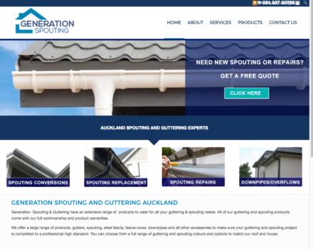 Spouting web design Auckland